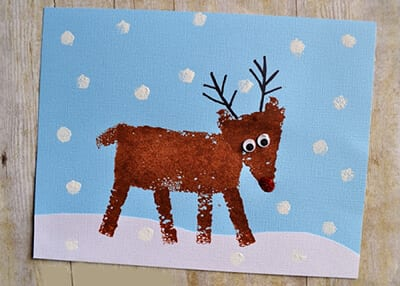 Рисунок рождественский олень