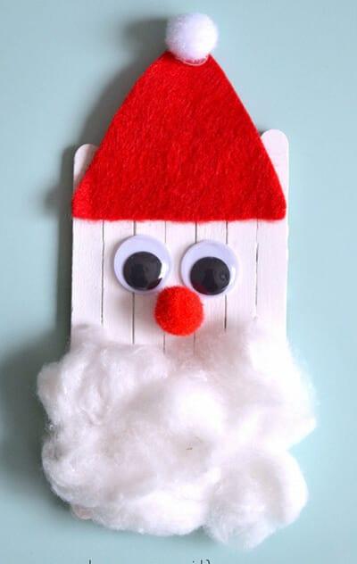 Дед Мороз из одноразовый палочек