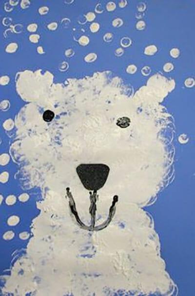 Рисунок белый медведь