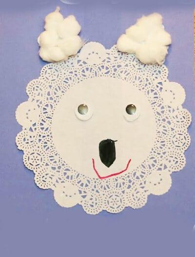 Белый медведь из салфетки