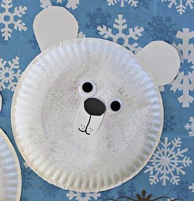 Белый медведь из одноразовой тарелки