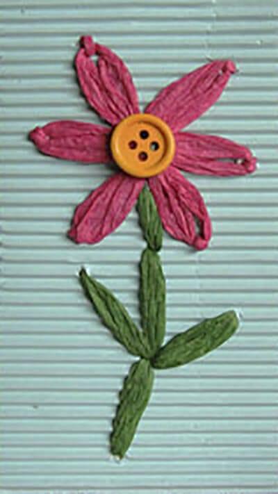 Цветок из пряжи