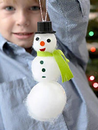 Снеговик из синтепона