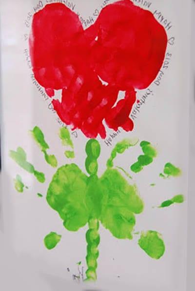 Цветочек из отпечатков