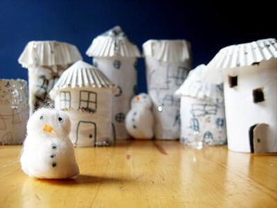 Поделка снежный город