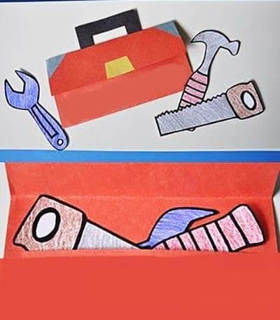 Поделка ящик с инструментами