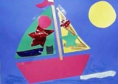 Кораблик со звездами