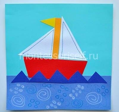 Кораблик на 23 февраля