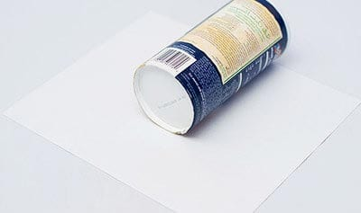 We wrap a jar in paper