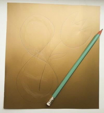 Рисуем контур карандашом