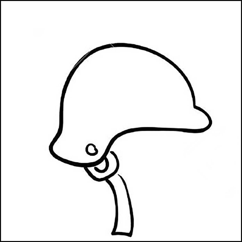 Раскраска солдатская каска