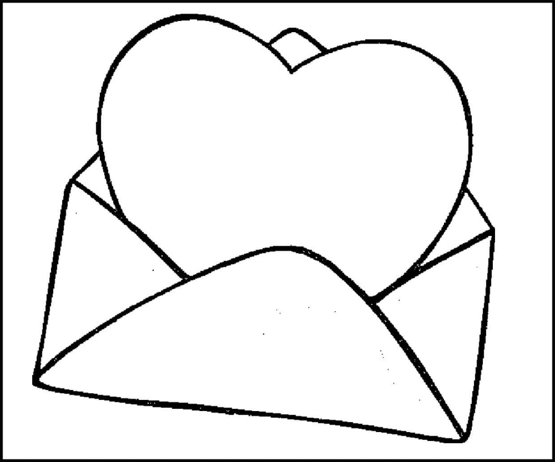 Раскраска письмо с любовью