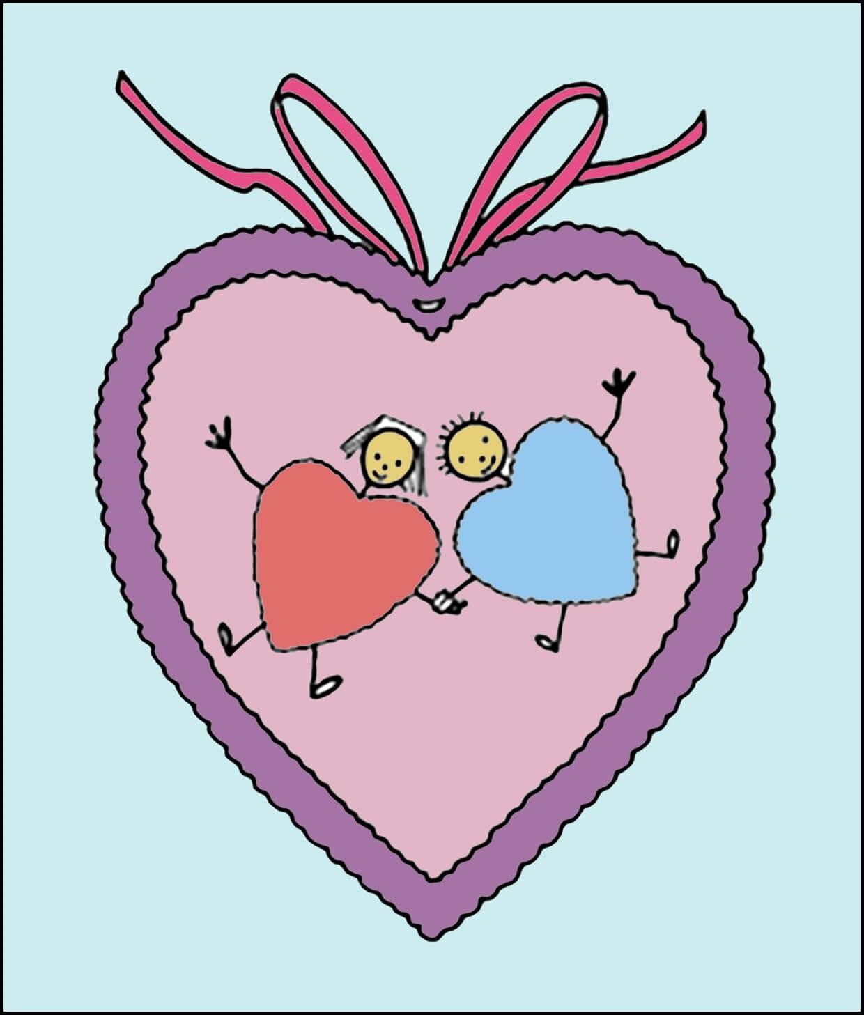 Картинка влюбленные сердечки