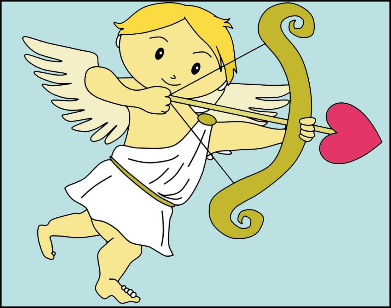 Картинка Купидон пускает стрелу любви
