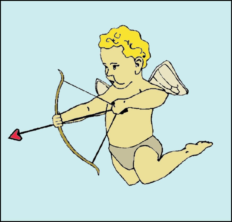 Картинка ангел пускает стрелу