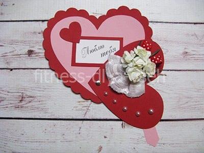 Ажурное сердечко на 8 марта