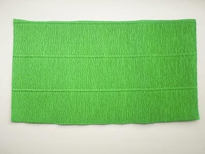 Corrugated green paper