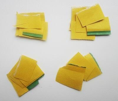 Из полосок нарезаем квадратики