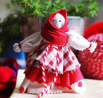 Кукла - веснянка (оберег) из ткани