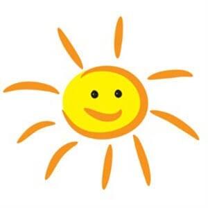 Простой рисунок солнышко 3