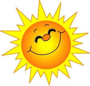 Картинка веселое солнышко 11