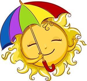 Солнышко с зонтиком