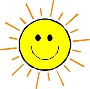 Картинка веселое солнышко 8