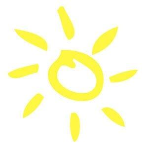 Простой рисунок солнышко 2