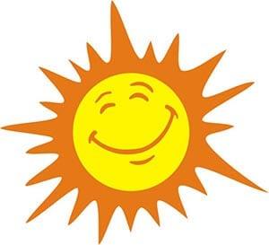Картинка веселое солнышко 4