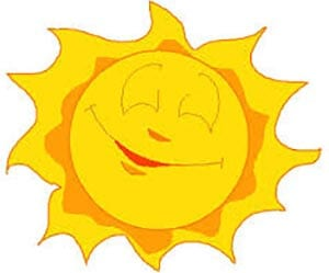 Картинка веселое солнышко 1