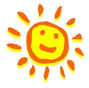 Простой рисунок солнышко 1