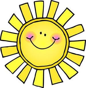 Картинка улыбающееся солнышко 3