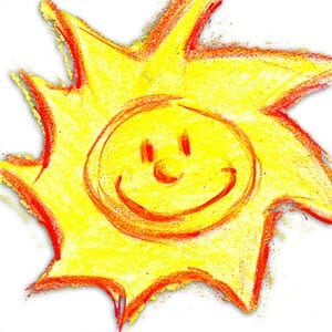 Children's drawing of the sun