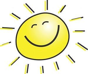 Картинка улыбающееся солнышко 1