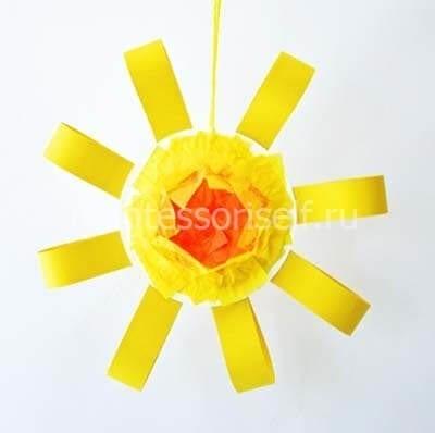 Солнышко из бумаги