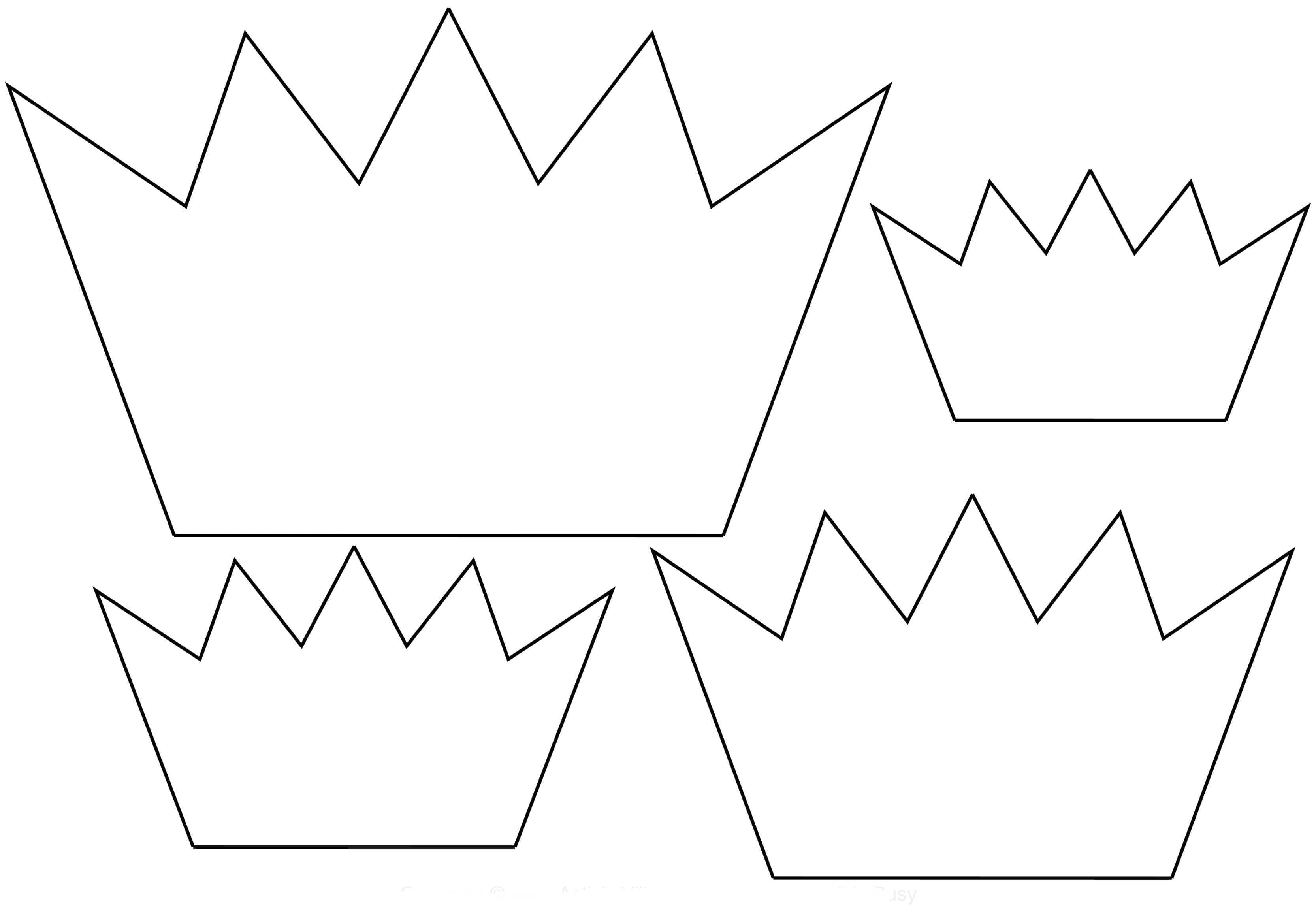 Корона шаблон для вырезания 5