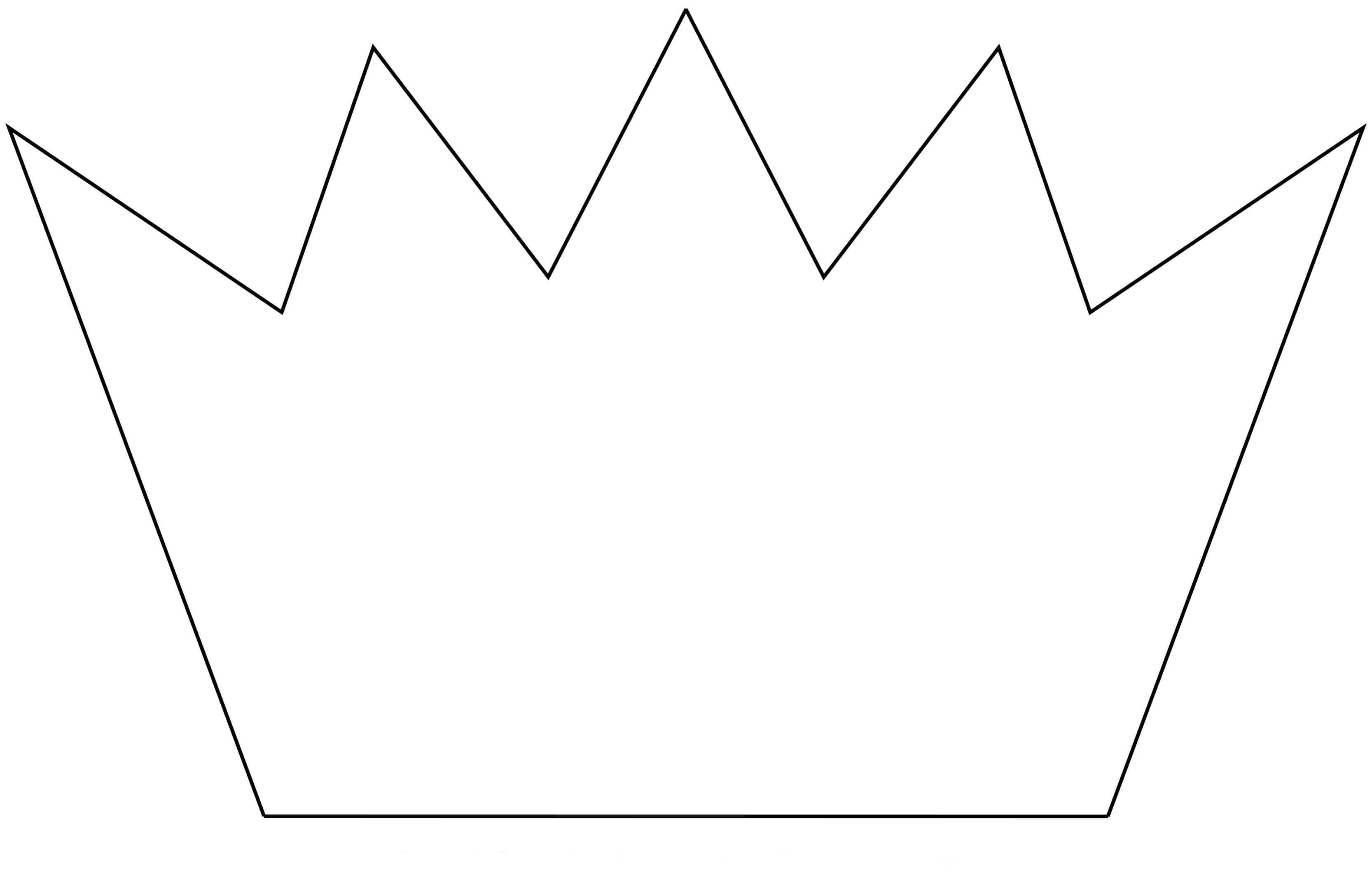 Crown outline printable
