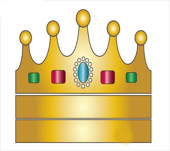 Корона шаблон для вырезания 8