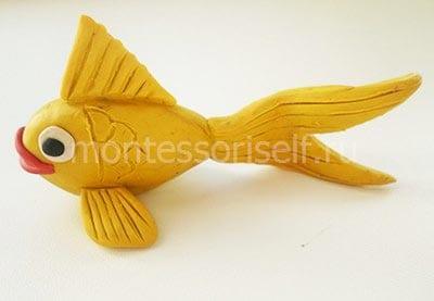 Поделка рыбка из пластилина