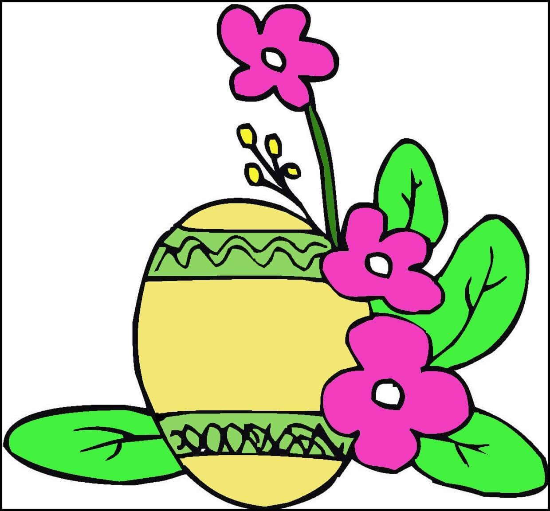 Картинка яичко с цветами
