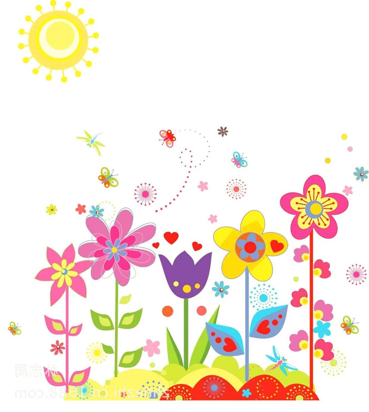 Весна и цветы картинка для детей 2