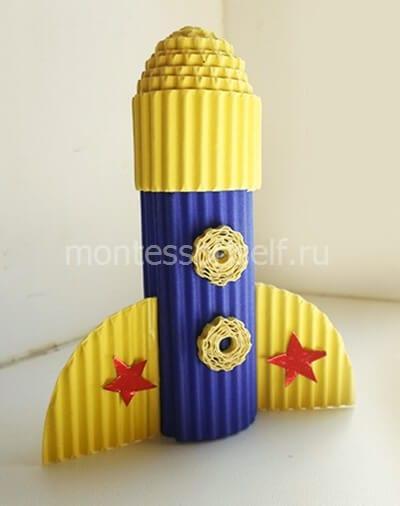 Ракета из гофрокартона своими руками