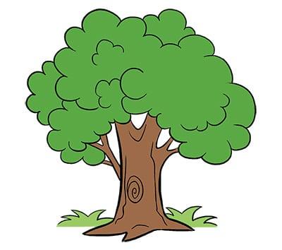 Заполняем дерево краской