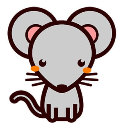 Mouse picture for children 8