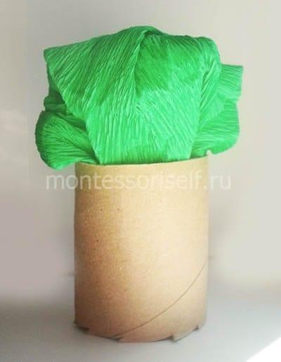 Цветная бумага в картонном рулоне