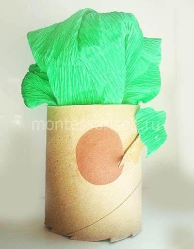 Дерево из картонного рулона
