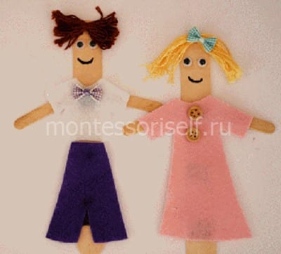 Куклы из палочек от мороженого