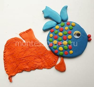 Рыба из пластилина