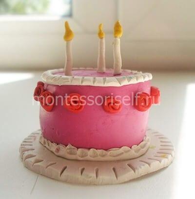 Тортик из пластилина своими руками