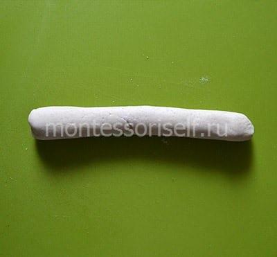 Колбаска из соленого теста